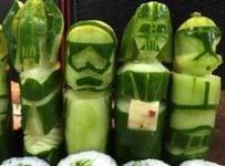 Sushi Star Wars art concombre