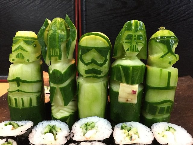 Sushi Star Wars concombres
