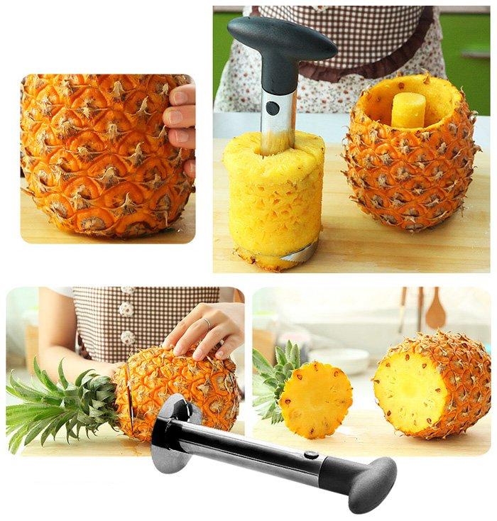 couper rapidement en cuisine ananas