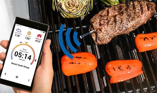 cuisine connectee viande thermometre