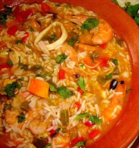 riz aux fruits de mer portugais