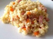 Risotto aux carottes Arroz de cenoura cremoso