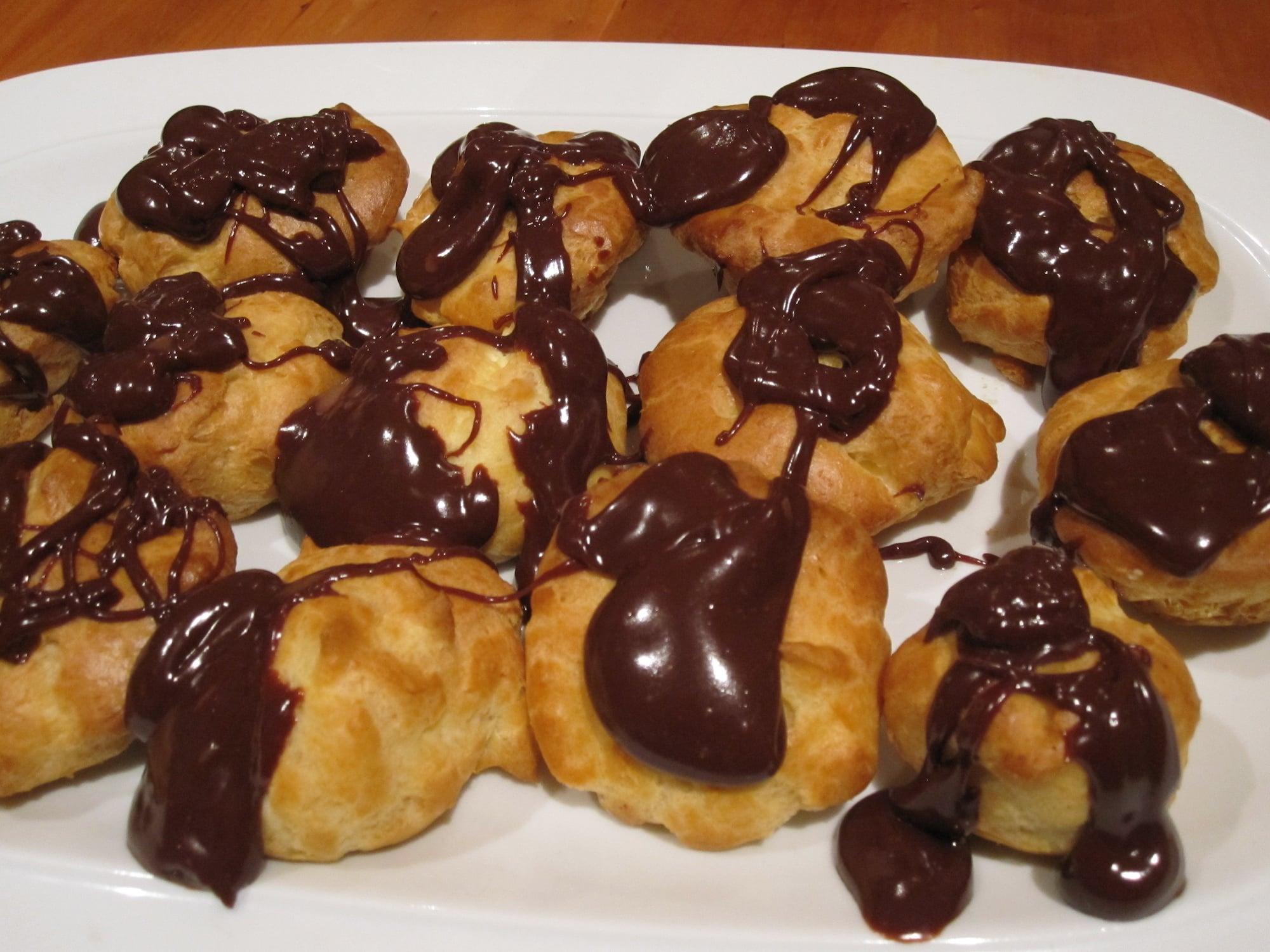 profiteroles chocolat caramel