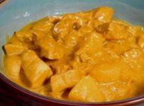poulet au curry et sauce coco