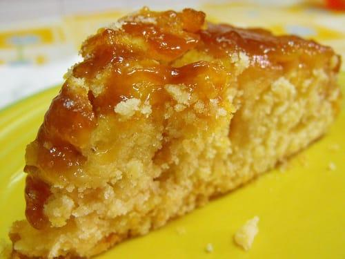 gâteau aux pommes caramélisées rapide