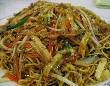 vermicelles de riz au poulet rapide