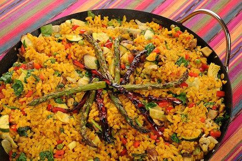 paella vegetarienne recette