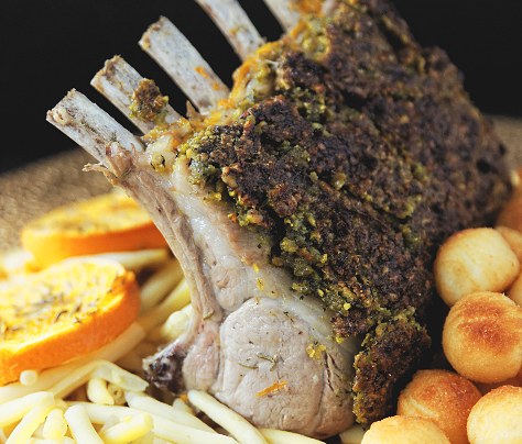 Carré d'agneau en croûte d'herbes recette