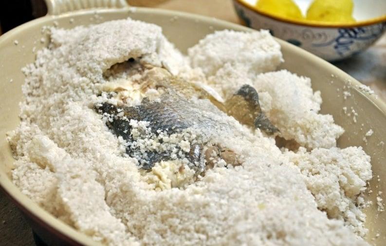 Daurade en croûte de sel recette