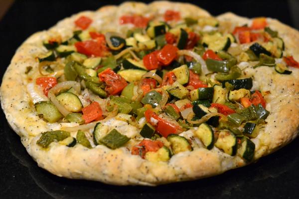 focaccia aux legumes fougasse aux legumes