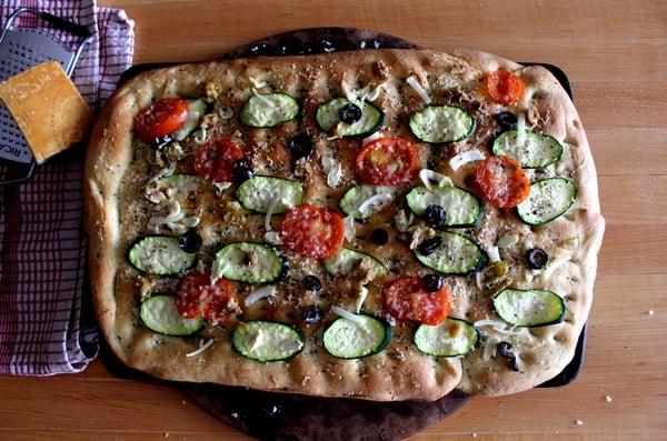 focaccia aux legumes recette
