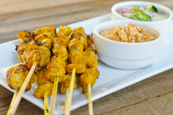 brochette de poulet au curry maison