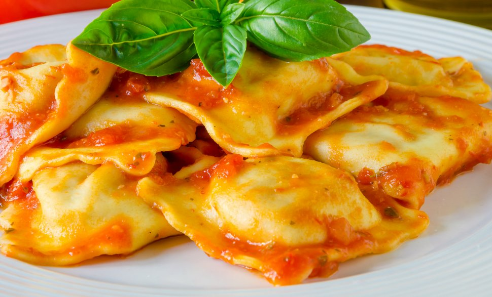 raviolis au boeuf et sauce tomate