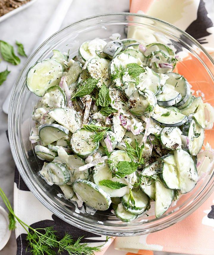 salade de concombre au yaourt rapide