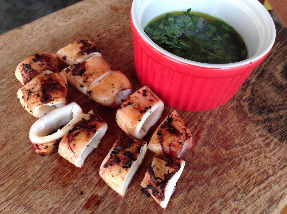 calamars grilles au barbecue recette