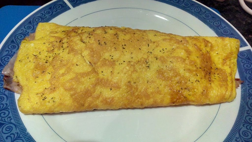 omelette jambon fromage