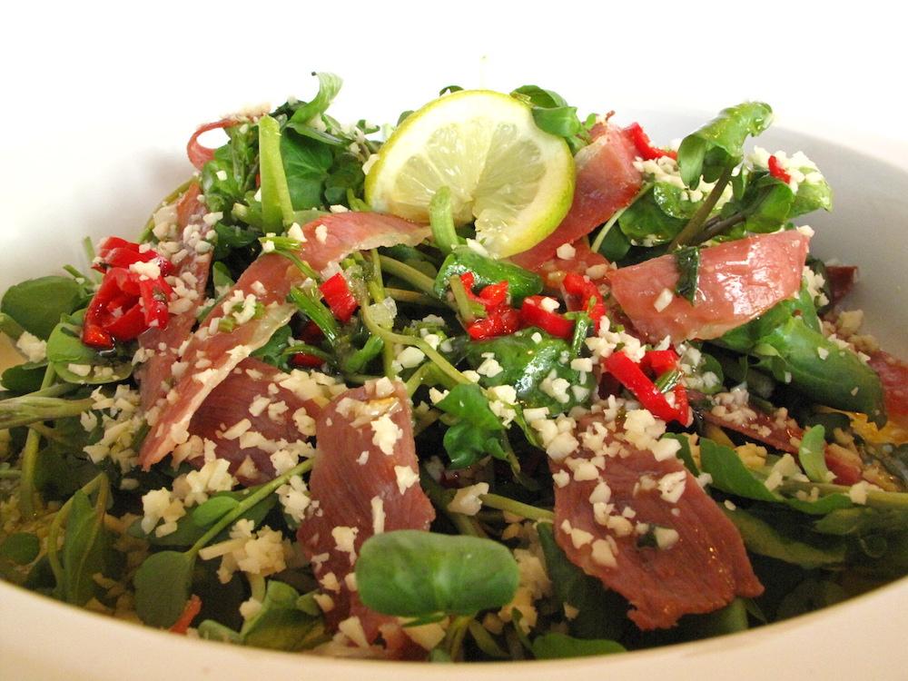 salade de cresson au jambon fume recette
