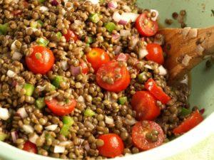 salade de lentilles tomates