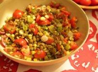 salade de lentilles tomates recette