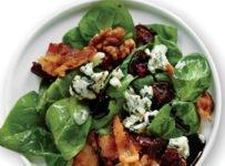 salade d'épinards au roquefort