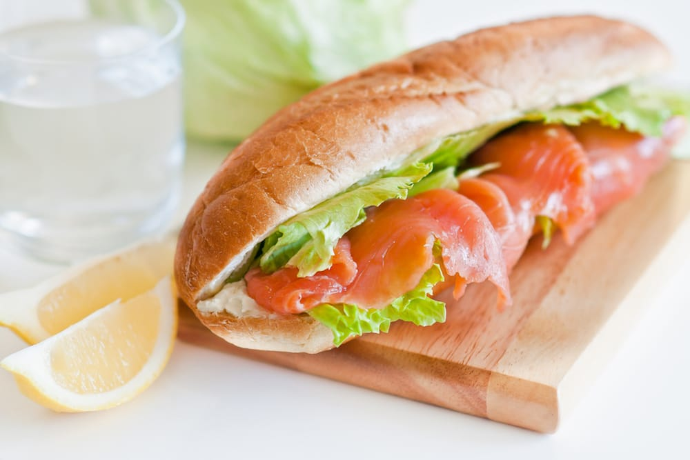 sandwich saumon fume maison