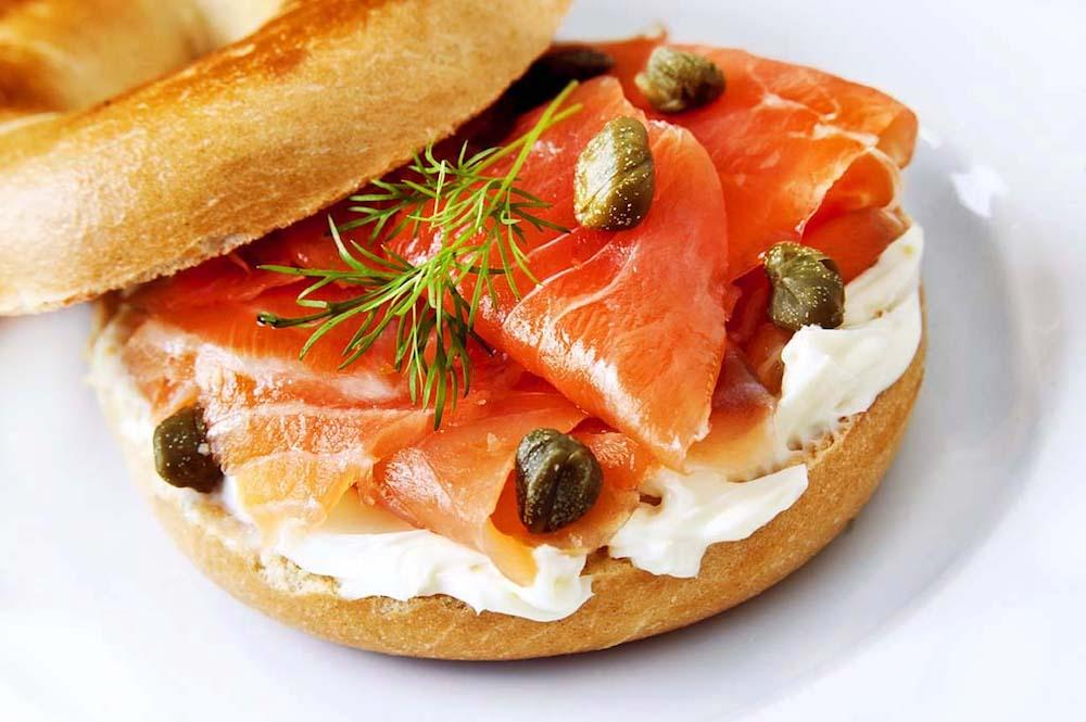 sandwich saumon fume recette