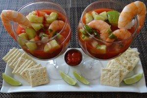 verrines crevettes pommes vertes sauce cocktail marmite du monde. Black Bedroom Furniture Sets. Home Design Ideas