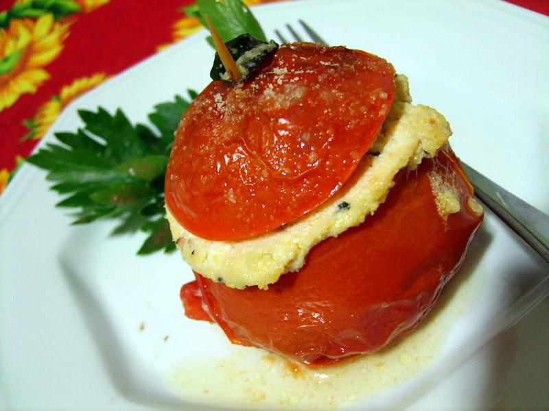 tomates au four farcies a la ricotta