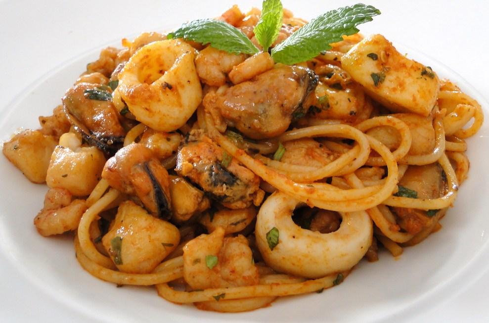 spaghetti aux fruits de mer facile