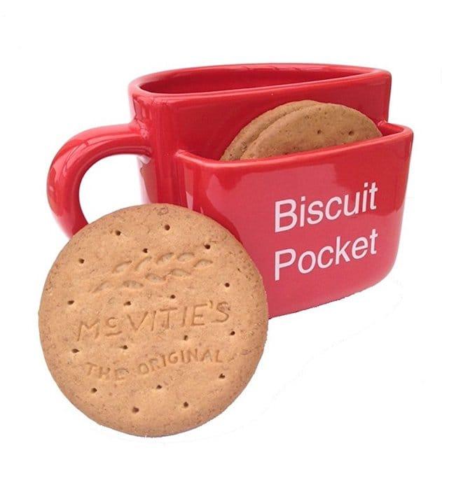 Mug avec rangement pour biscuits rouge