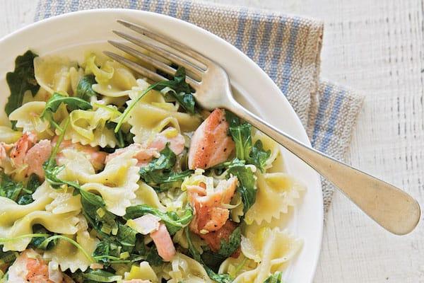 Salade de pates aux deux saumons plat froid