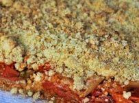 crumble aux tomates et au parmesan recette