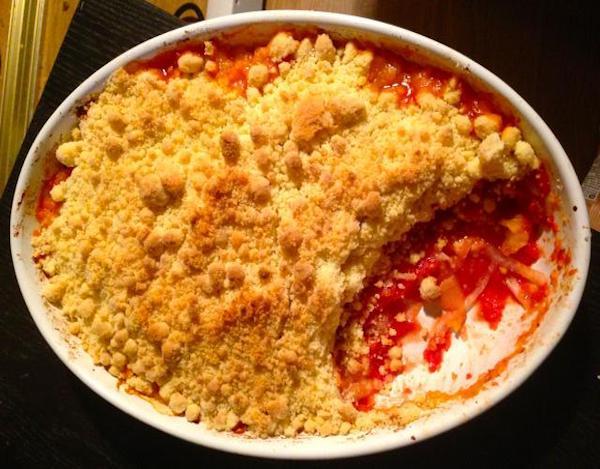crumble aux tomates oigons parmesan