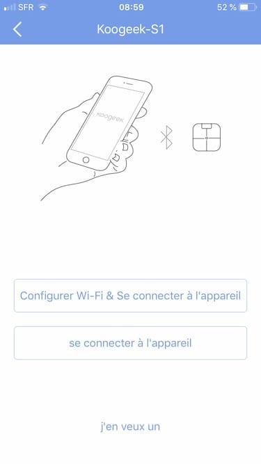 Koogeek S1 connexion Wifi