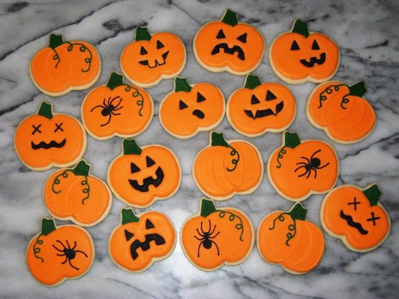 Biscuits Halloween citrouilles