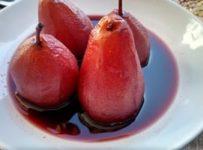 poires pochees vin rouge et epices recette