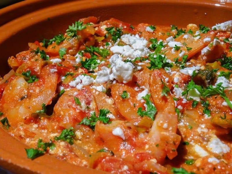 crevettes saganaki recette