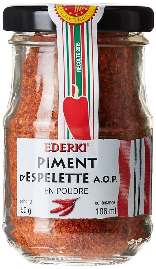 piperade ingredient piment d'espelette