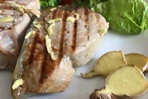 Steak de thon frais marine et grille recette