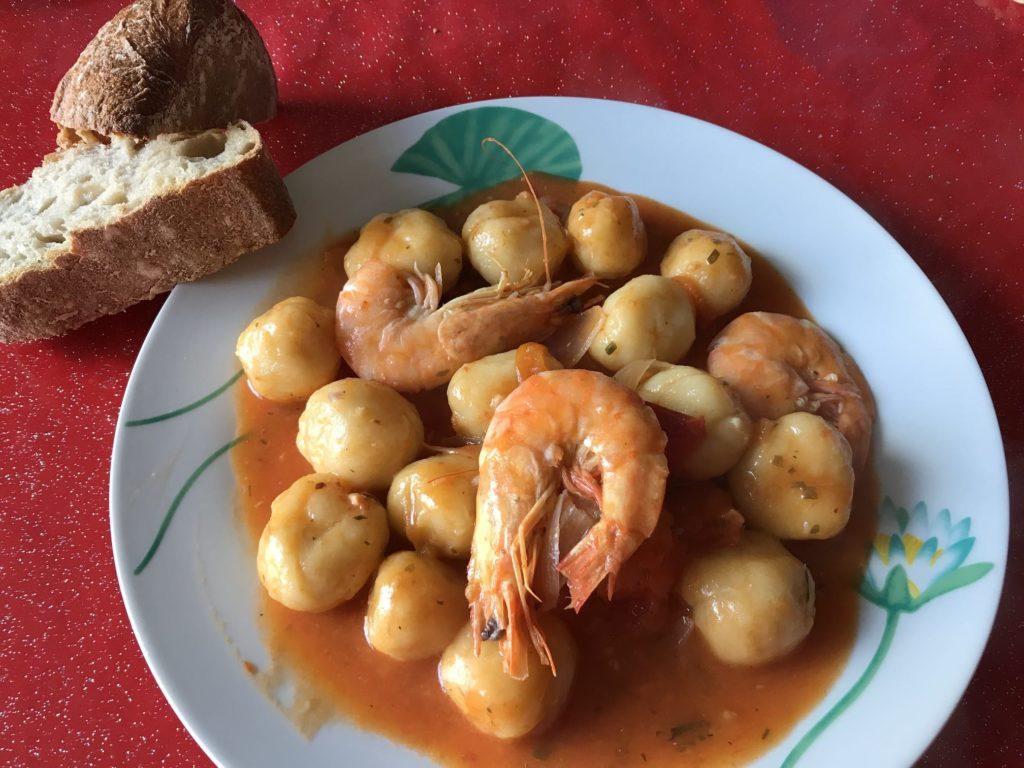 dombrés aux crevettes recette
