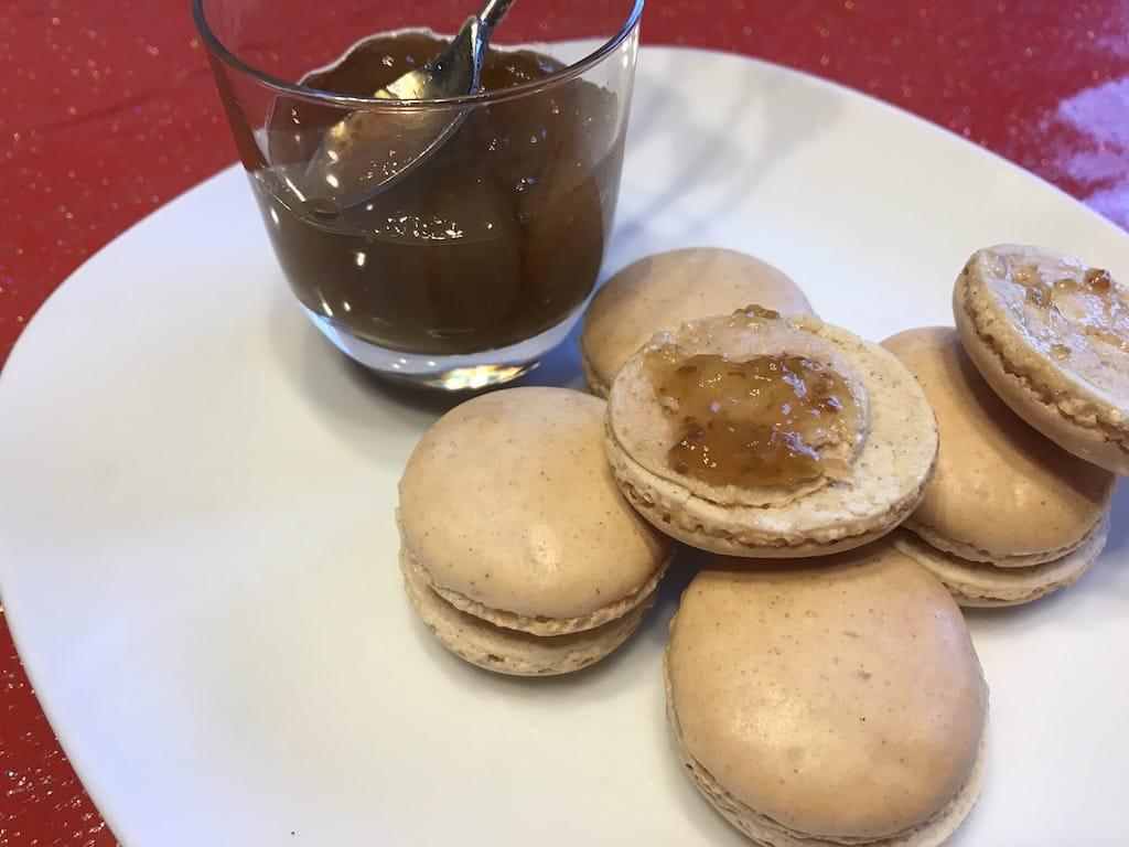 Macarons foie gras figues