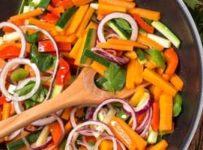wok aux legumes et poulet thai recette facile